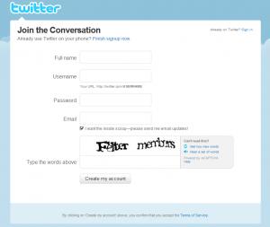 TwitterのCAPTCHA