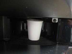 コーヒーサーバにカップをセット