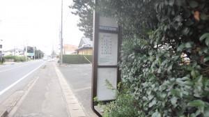 バス停が隠れていた!