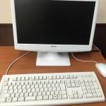 パソコンとマウスとキーボード