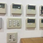 部屋の照明やエアコンのスイッチ