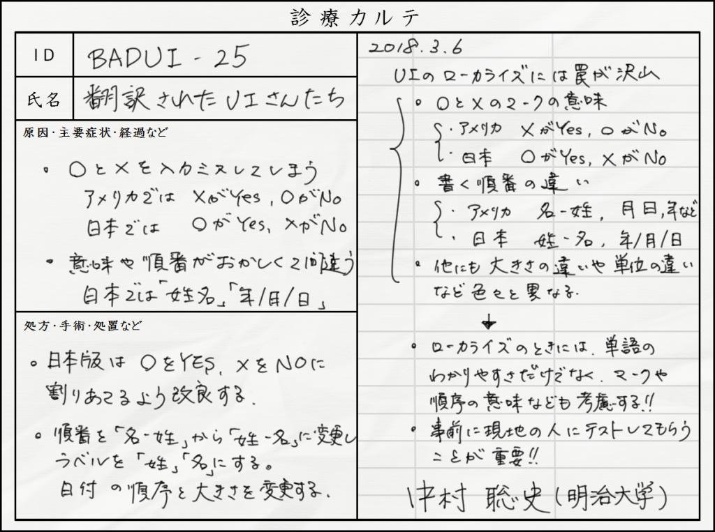 BADUI診療所 カルテ No.25